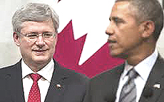 Stephen Harper con Obama