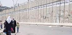 Il muro che separa israeliani e palestinesi