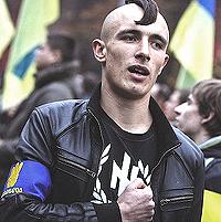 Kiev, un estremista di destra anti-russo