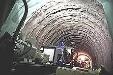 La galleria esplorativa in fase di scavo a Chiomonte
