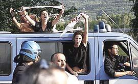 Manifestanti No-Tav fermati dalla polizia