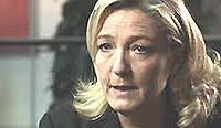 Marine Le Pen, avversaria dell'euro-regime