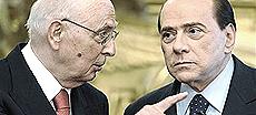 Napolitano con Berlusconi