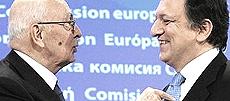 Napolitano e Barroso