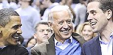 Obama e i Biden, padre e figlio