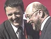 Renzi ride con Martin Schulz
