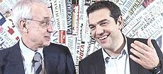 Tsipras con Flores D'Arcais, direttore di Micromega
