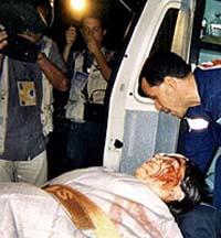 Uno dei feriti della mattanza del G8 di Genova