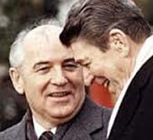 Gorbaciov e Reagan