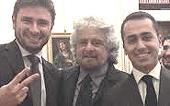 Grillo con Di Battista e Di Maio