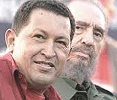 Hugo Chavez con Fidel Castro