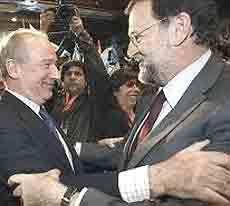 Rodrigo Rato con Mariano Rajoy
