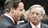 Cameron, unico leader a opporsi a Juncker