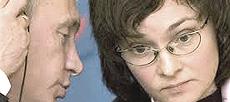 Elvira Nabiullina con Vladimir Putin