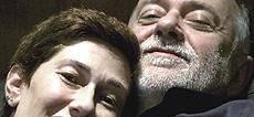 Giorgio Faletti con la moglie Roberta