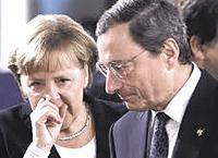 Merkel e Draghi, padroni d'Europa