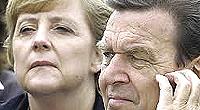 Merkel e Schroeder, stessa politica