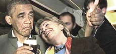 Obama con Hillary Clinton