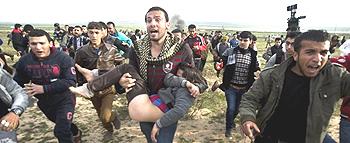 Palestinesi in fuga