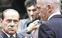 Berlusconi e Papandreou