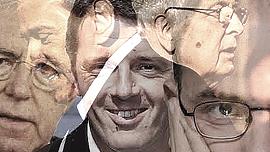 Monti, Berlusconi, Renzi, Napolitano e Letta