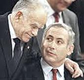 Shamir con Netanyahu