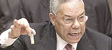 Colin Powell all'Onu con la falsa fiala di antrace