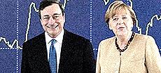 Draghi e Merkel