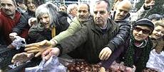 La Grecia ridotta alla fame
