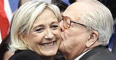 Marine Le Pen col padre, Jean-Marie
