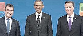 Rasmussen, Obama e Cameron a Newport