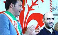 Saviano con Renzi