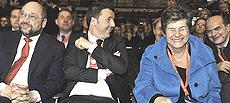 Schulz, Renzi, Camusso e Bersani