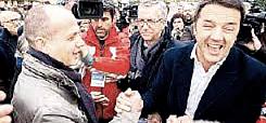 Valter Piscedda con Renzi