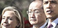 Jim Yong Kim (Banca Mondiale) tra la Clinton e Obama