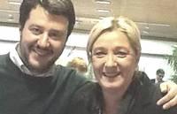 Salvini e Marine Le Pen