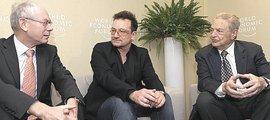 Bono tra Van Rompuy e Soros