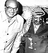 Craxi e Arafat