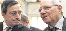 Draghi e Schäuble