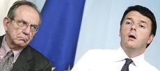 Padoan e Renzi, ligi ai diktat dell'austerity