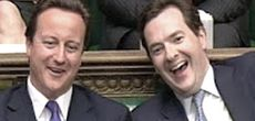 David Cameron col ministro George Osborne