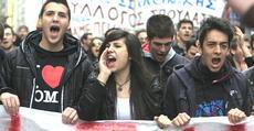Grecia, manifestazione studentesca