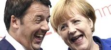 Renzi con la Merkel