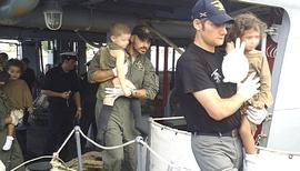Bambini portati in salvo