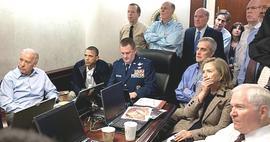 La celebre foto diffusa dalla Casa Bianca sul celebre blitz (invisibile) di Abbottabad