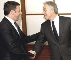 Renzi e Blair, ora Jp Morgan