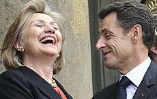 Hillary Clinton e Nicolas Sarlozy