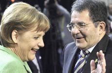 La Merkel con Prodi