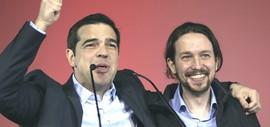 Tsipras con Pablo Iglesisas, leadare di Podemos