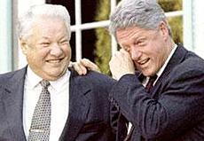 Eltsin e Clinton